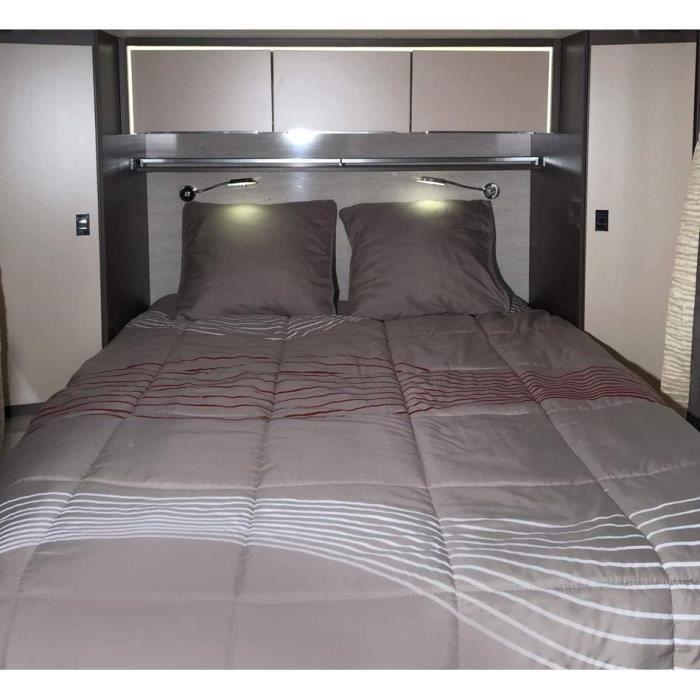 MIDLAND Prêt-à-Dormir Vibes 140x190 Lit Central - Linge de lit camping-car