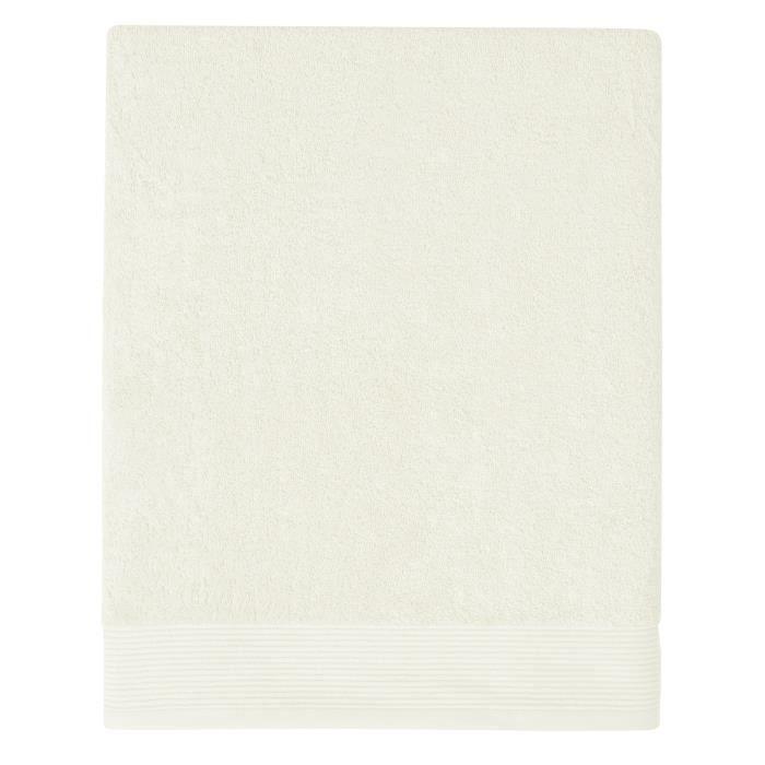 SANTENS Drap de bain GRACE 100x150 cm - Blanc craie