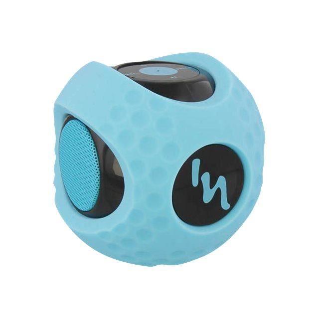 Enceinte Bluetooth 3 Watts RMS avec coque antichoc ! Profitez de votre playlist dans toutes les conditions, seul ou en sports c...