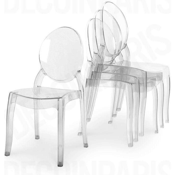 Chaise plexi pas cher - Chaise medaillon transparente pas cher ...