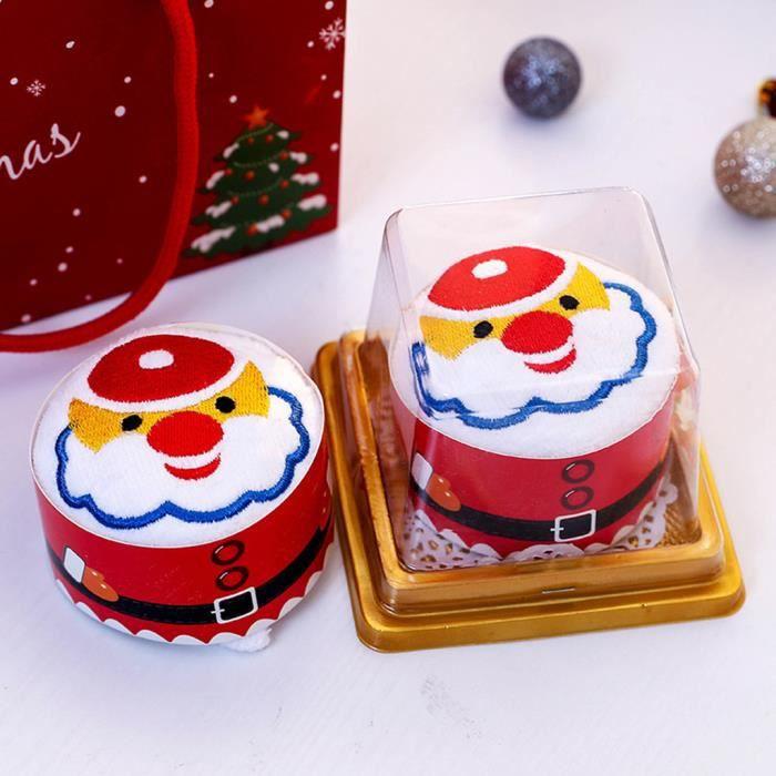 Gateau De Fete De Noel.Fournitures De Fête De Noël Serviette De Gâteau Présente Cadeau De Noël Débarbouillettes Torchon Su17595