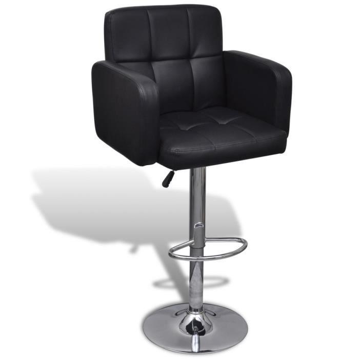 chaises de bar 2 tabourets de bar ajustables avec. Black Bedroom Furniture Sets. Home Design Ideas