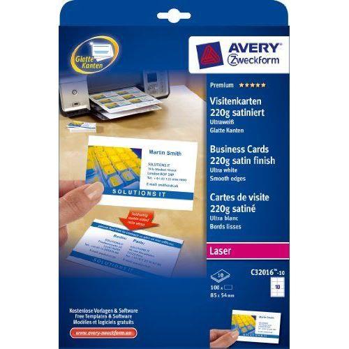 CARTE CORRESPONDANCE Avery Zweckform C32016 10 Paquet De Feuilles