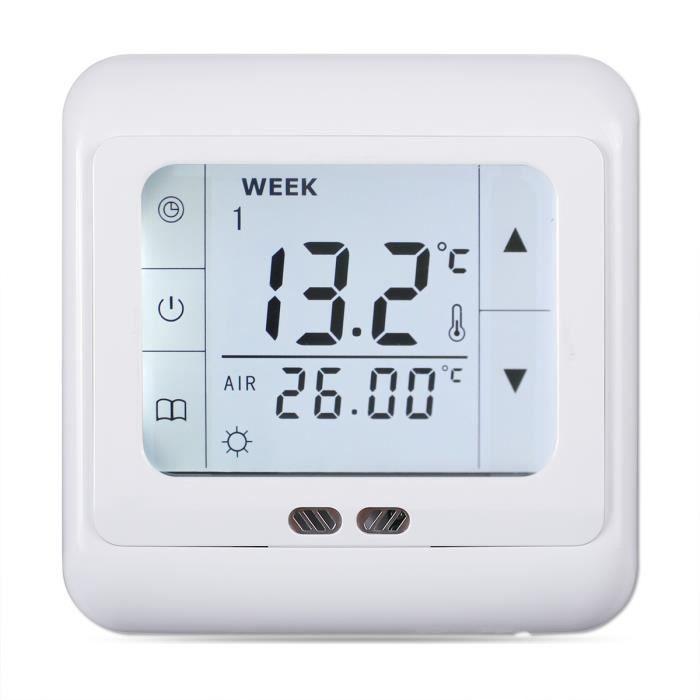 THERMOSTAT D'AMBIANCE FLOUREON 16A BYC07.H3 Thermostat à écran tactile -