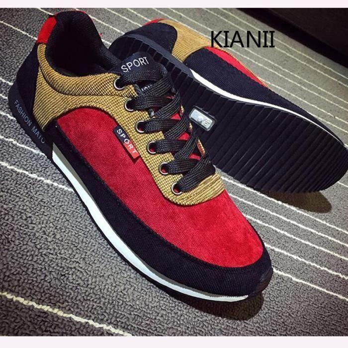 Kianii-Cortez Baskets Chaussures Hommes Rouge H8ArKrE