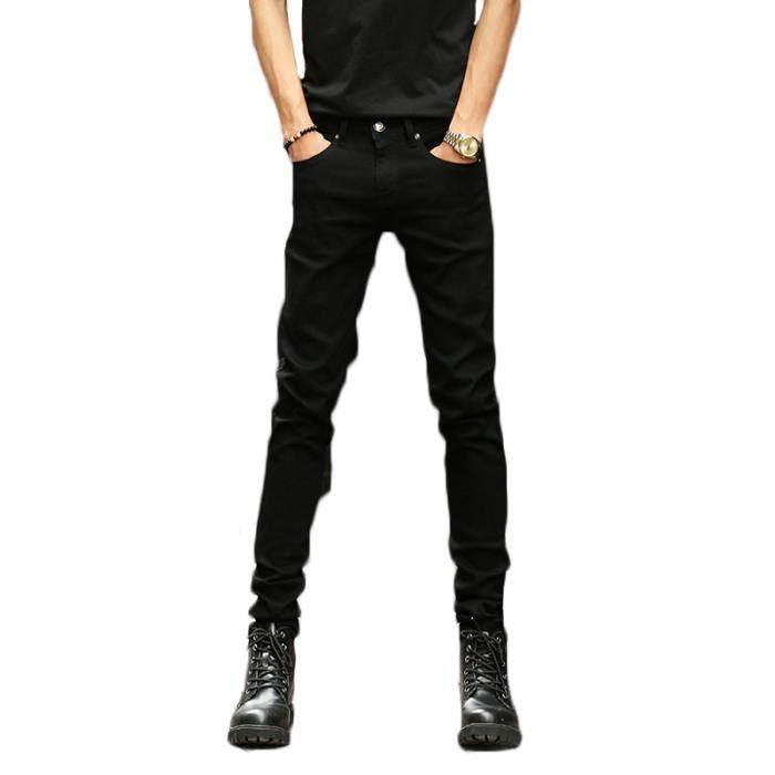 jeans slim noir homme achat vente pas cher. Black Bedroom Furniture Sets. Home Design Ideas