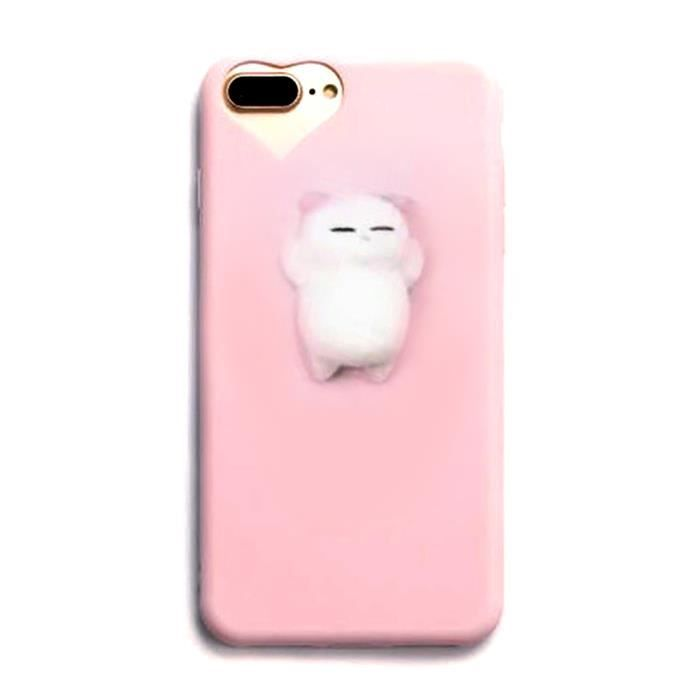 coque iphone 7 chat 3d