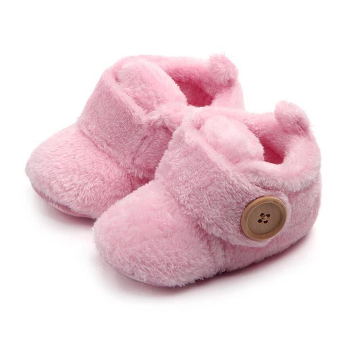 chaussures Beaux pantoufles premiers marchettes molles chaussures bambins rose bébé de rondes orteils H8waHrqp