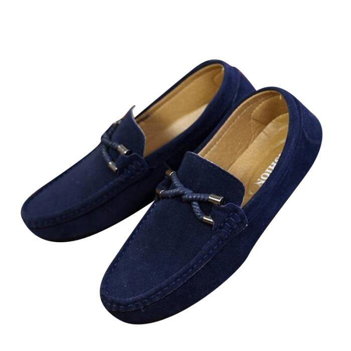 Mocassins Hommes Printemps Ete Leger Mode Chaussures MMJ-XZ077Bleu43