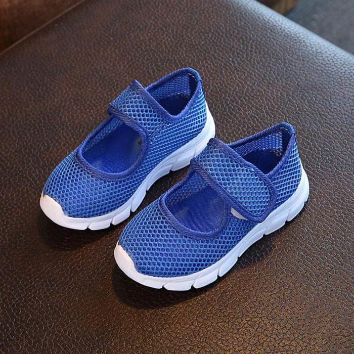 Frankmall®Enfants fermé Toe Sports sandales Casual Mesh Sneakers chaussures de plage BLEU#WQQ0926370