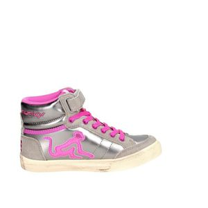 Drunknmunky Haute Sneakers Fille Gris/Fuchsia, 33
