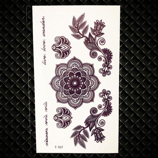 5 Morceaux Triangle Noir Rose Tatouage Temporaire Femmes Geometrique