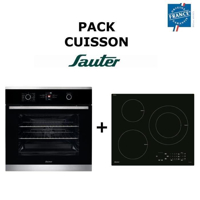 Pack Cuisson SAUTER : Four multifonction + Table de cuisson Induction