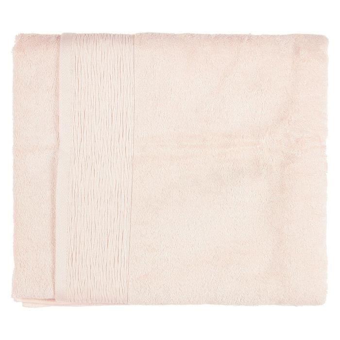 FINLANDEK Drap de Bain - 100x150 cm - Raphia Rose Pâle