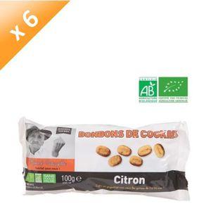 CONFISERIE DE SUCRE Bonbon Cookie Citron Bio - 100 g x6