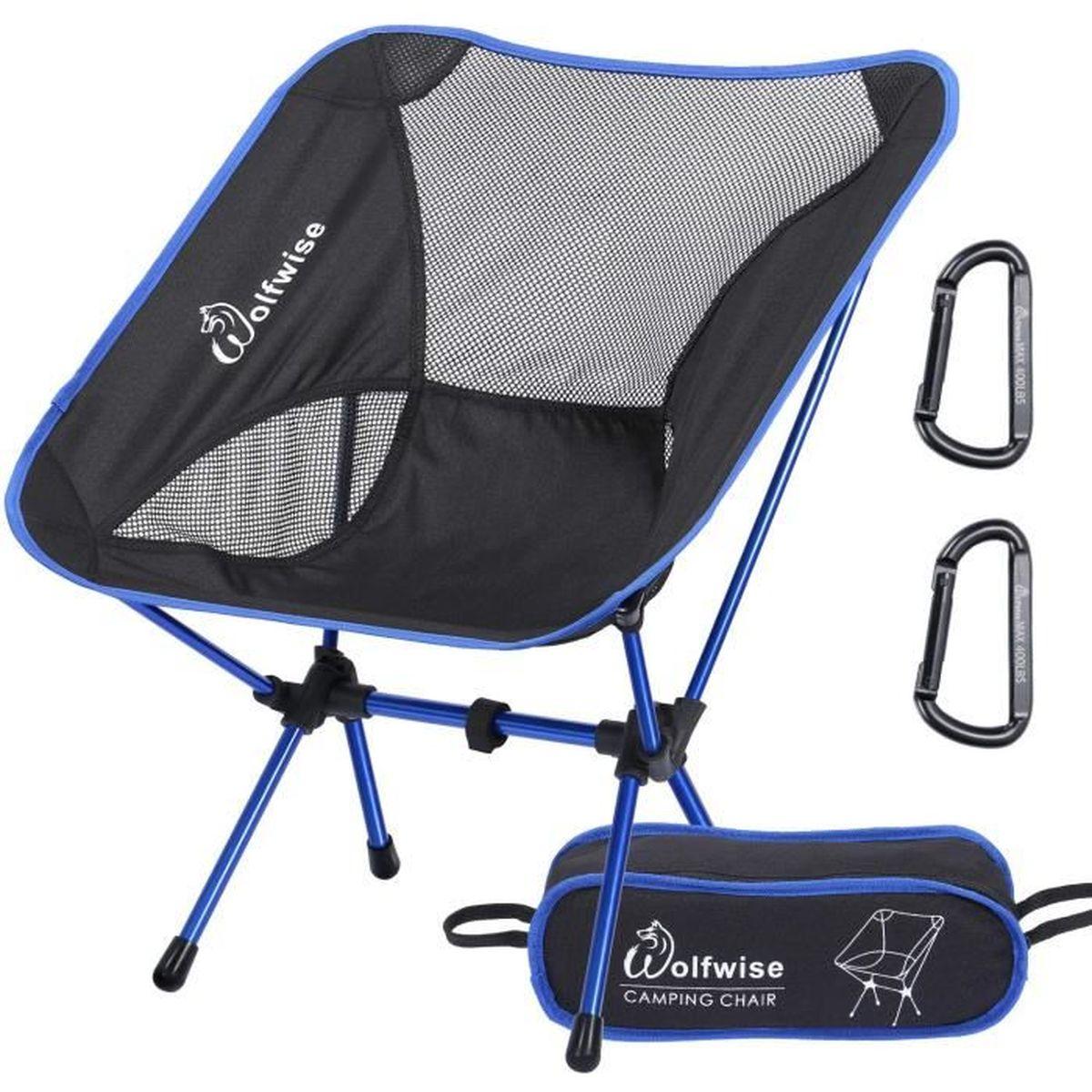 Chaise Légère Wolfwise De Pliante Avec Camping Sac Solide Et N8mw0n