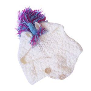 LAINE TRICOT - PELOTE Bonnet Licorne Mignon avec Écharpe Bonnets Tricoté 9189903dedd
