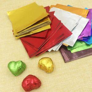 OBJET DÉCORATIF  100 pcs Chocolat Emballé Papier Feuille D'alumini