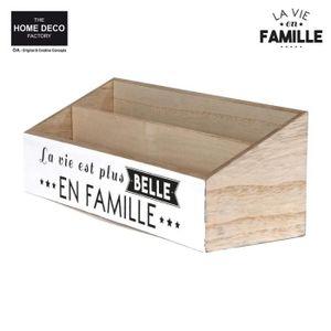 PORTE-REVUE THE HOME DECO FACTORY Porte-courrier M12 - Blanc