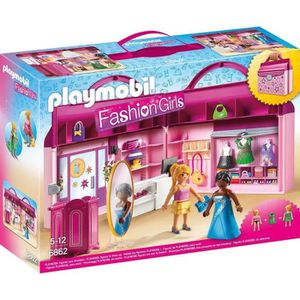 FIGURINE - PERSONNAGE PLAYMOBIL 6862 - Fashion Girls - Magasin Transport
