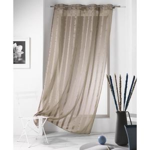 Voilage taupe - Achat / Vente Voilage taupe pas cher - Cdiscount