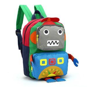 CARTABLE 20*27*10cm Sac à Dos Robot Enfant Garçon Fille Car