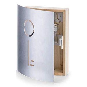 ARMOIRE - BOITE A CLÉ Zeller 13846 Armoire à clés en Hetre/Inox, 21,5 x