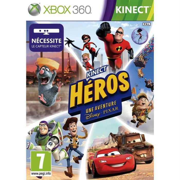 kinect heros une aventure disney pixar xbox 360 achat. Black Bedroom Furniture Sets. Home Design Ideas