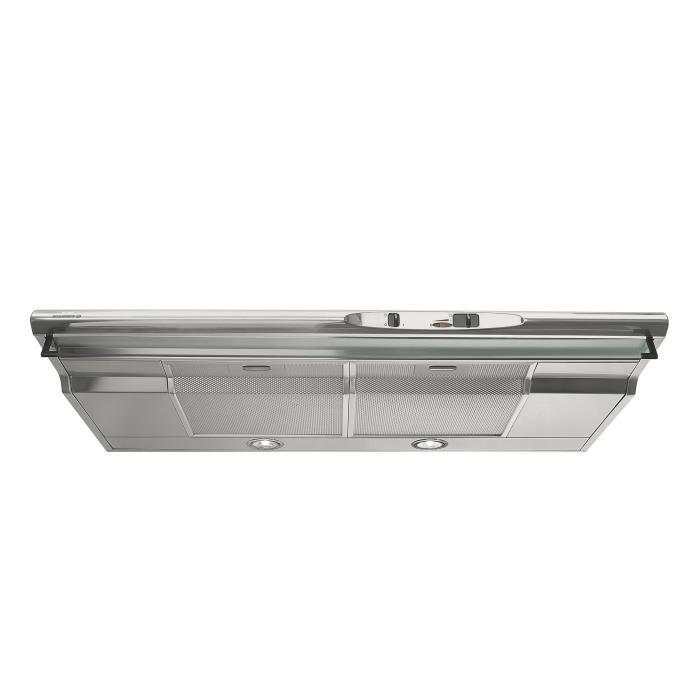 ROSIERES RHC940IN - Hotte casquette - 400m3/h max - 60dB max - 3 vitesses - L90cm - Inox
