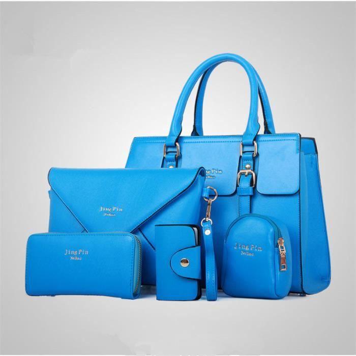 Femme bleu marque à Sac femme Cuir femme sac qualité De Marque sac Nouvelle ylb054 main arrivee main De de à supérieure Luxe En 7xn4vwHqd