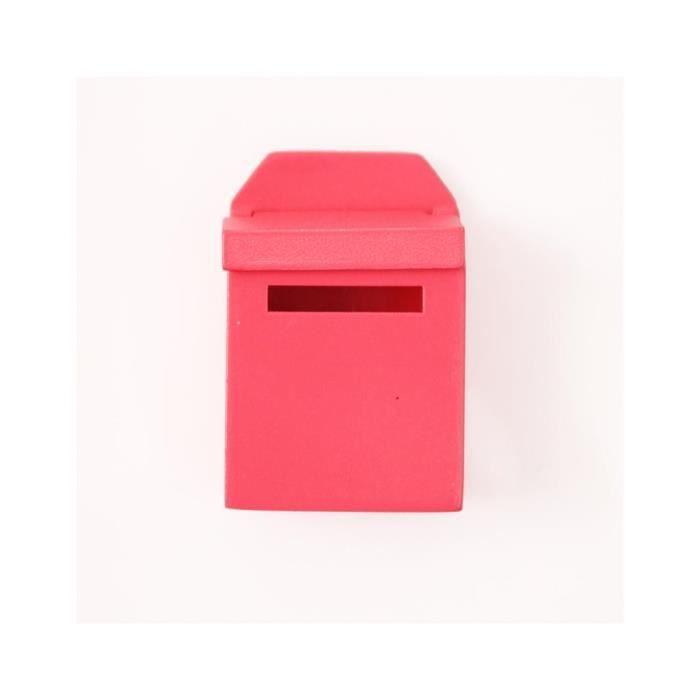 Maison 1 12 Bois Rose Boite Aux Lettres Rouge Avec Dollhouse