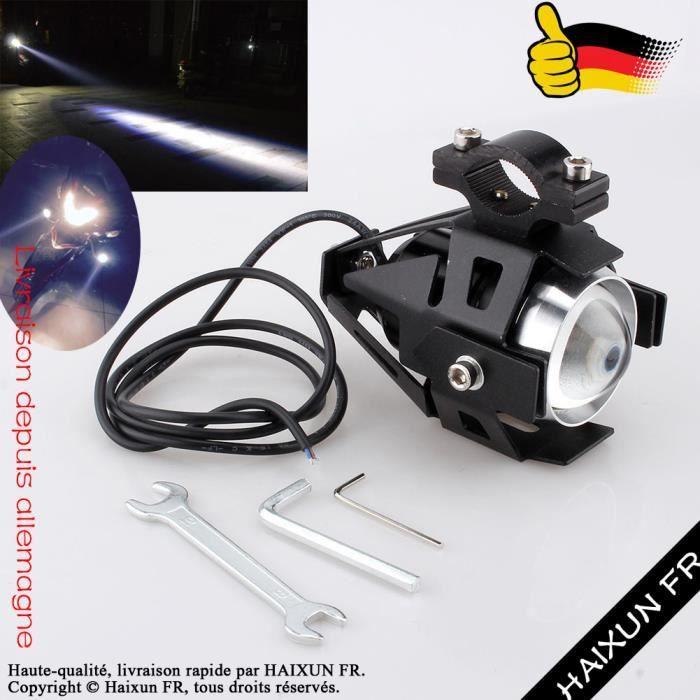 Haixun 125w Led Phares Supplémentaires De Croisement 2x Conduite Moto U5 Lampe Fr© Feux Noir SUzMVqpG