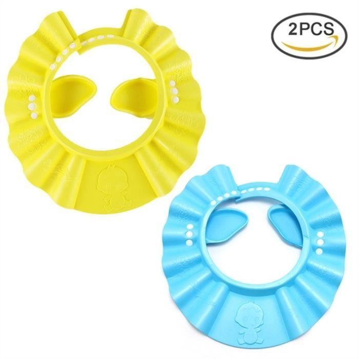 Pretty See Enfants Bonnets de bain Set de 2, Jaune et Bleu