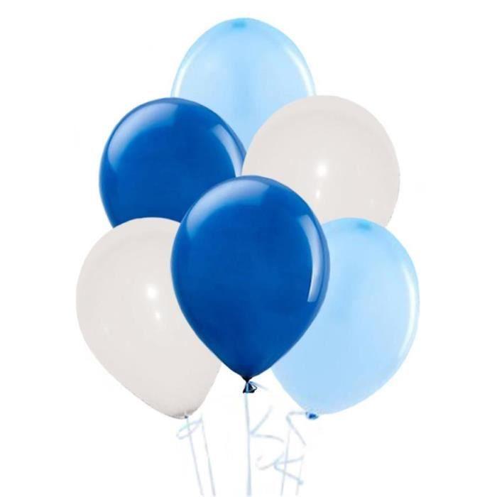 BALLON DÉCORATIF  Ballons blancs  bleus et bleu foncé (x30)