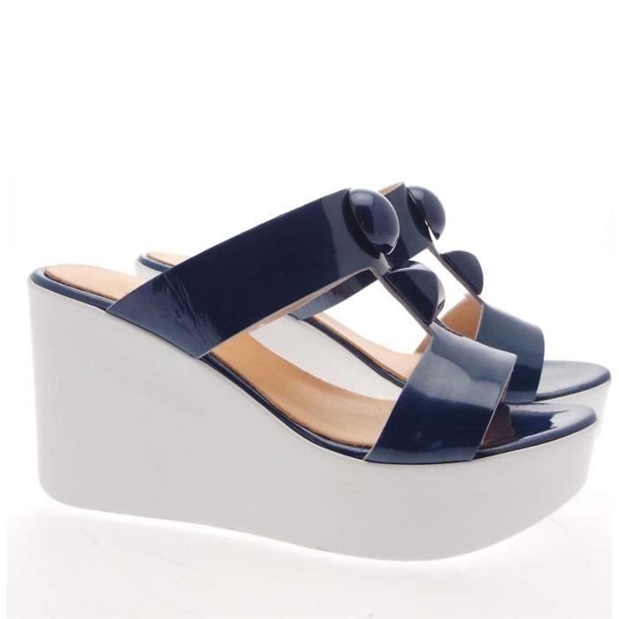Enrique De La Renta Sandal Femme Blue