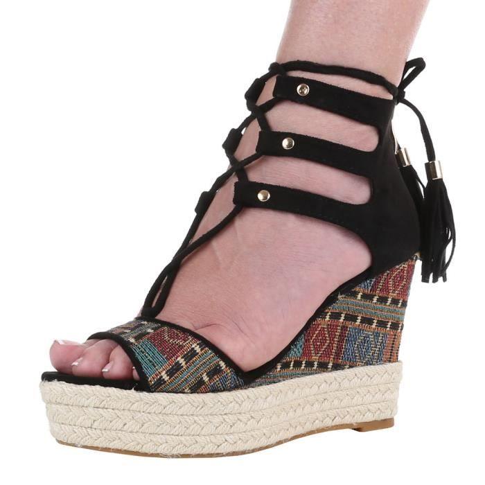 Chaussures femmes sandales Derbies cale cale Escarpins