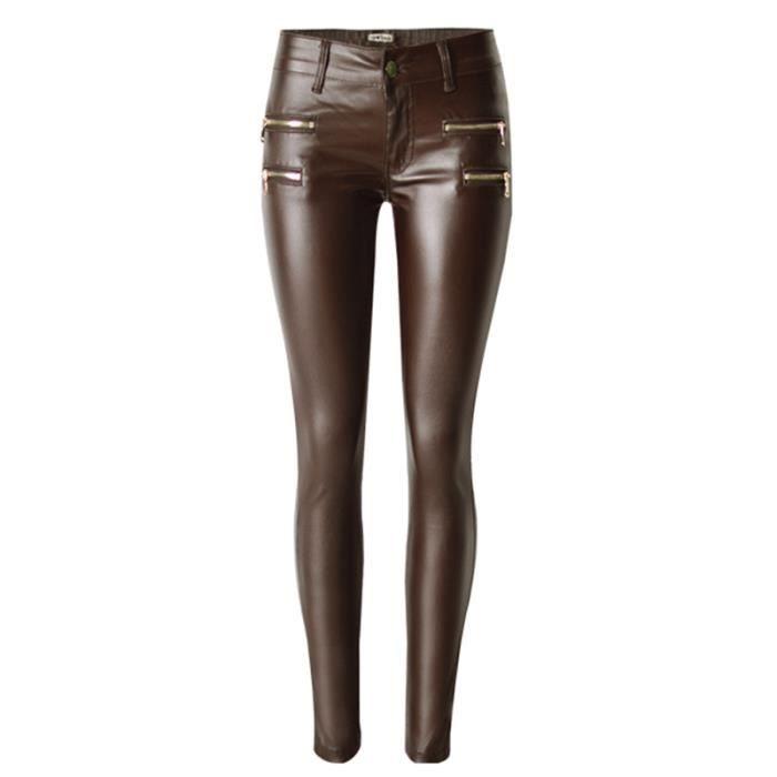 a2d0625d83 Pantalon en cuir femme grande taille - Achat / Vente pas cher