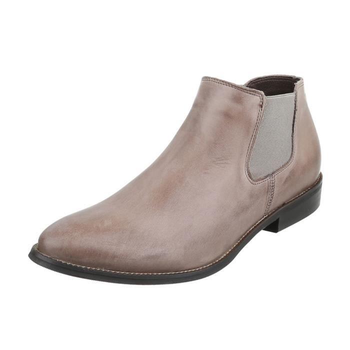 Femme chaussures bottillon Used optique cuir bottes marron 41 27dXj