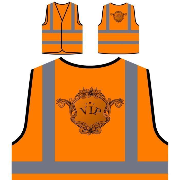 Vip Protection Personnalisée Orange De Design nouveau À Art Visibilité Luxury Veste Haute w8ZSq5nC