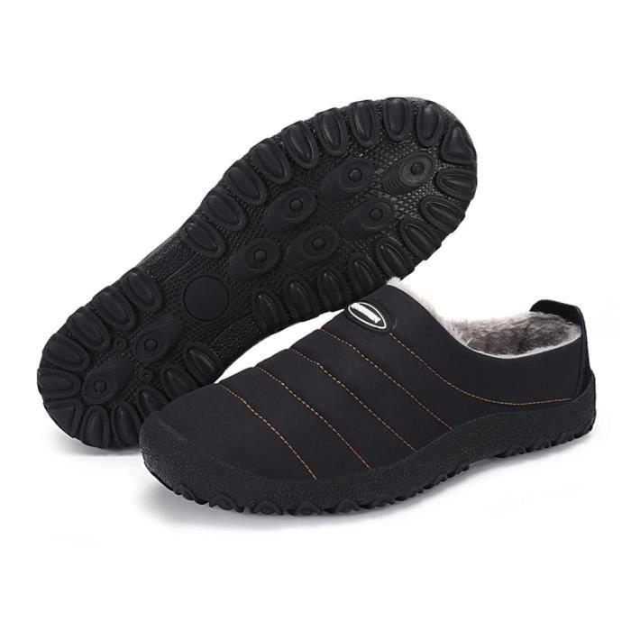 Coton Chaussure Hiver Garder au chaud Mocassins Série à domicile Peluche courte Homme Mocassin Poids Léger Plus Taille 39-46