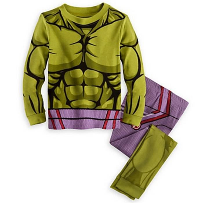 21c7c3798b49f ... T-shirt avec Cape + Pantalon. Ensemble de vêtements 1-7 Ans Garçon  Pyjama Super-héros 2PCS Ensemble de
