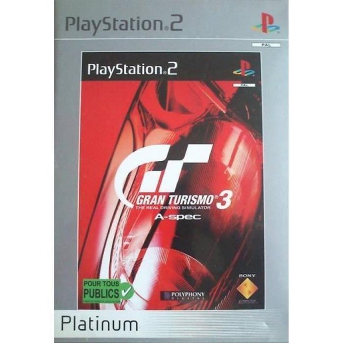 JEU PS2 GRAN TURISMO 3 A-SPEC Platinum - PS2