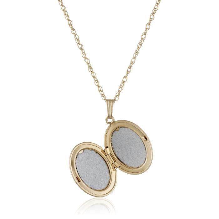 Yellow 14k Gold-filled Polished Oval Locket Necklace, 18 S50E0