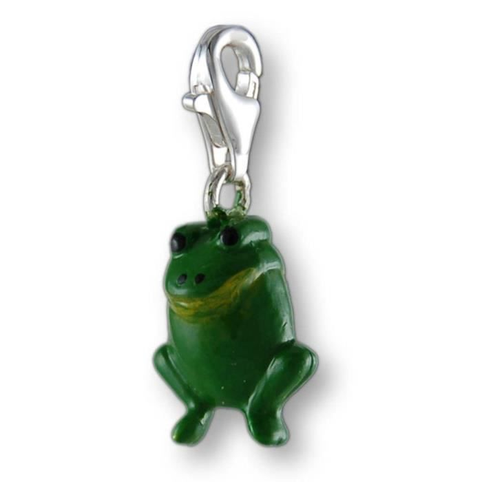 Melina Charms Pendentif Grenouille Argent 925 Emaille S8455