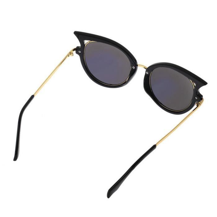 YKS fashion lunettes de soleil oeil de chat couleur or le film mercure