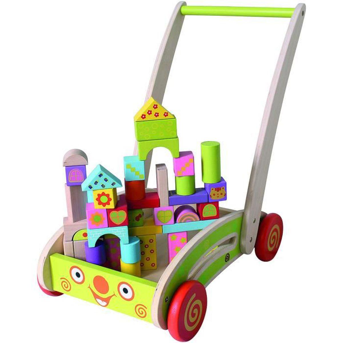 chariot en bois enfant achat vente jeux et jouets pas. Black Bedroom Furniture Sets. Home Design Ideas