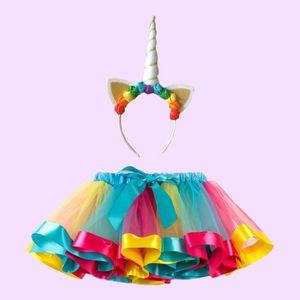 255819bf933cb JUPE Enfants Rainbow Tutu Jupe Bébé Fille Costume Balle