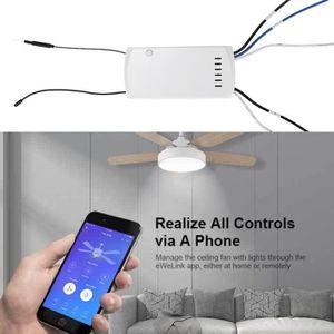 VENTILATEUR DE PLAFOND WiFi  Ventilateur plafond intelligent contrôleur t