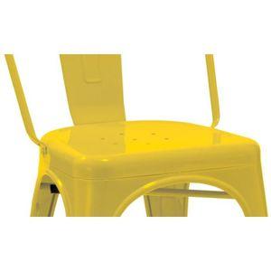 Lot De 2 Chaises Salle Manger Style Industriel Factory Mtal Jaune CDS09048