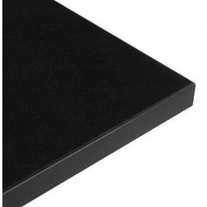 PLATEAU DE TABLE Plateau de table en bois carre 70cm noir